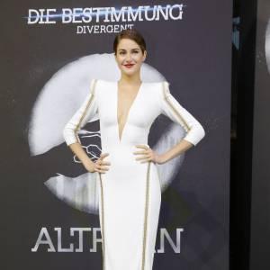 """Shailene Woodley attire tous les regards pour l'avant-première de """"Divergente"""" à Berlin, mardi 1er avril 2014."""