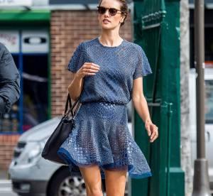 Alessandra Ambrosio, l'allure working-girl très féminine... un look à copier !