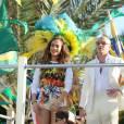 """Jennifer Lopez et Pitbull à Miami filment le clip """"Live it up"""" en février 2014."""
