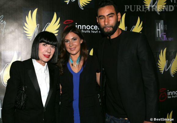 """Chantal Thomass, Marion Bartoli et La Fouine au lancement de la collection """"Wingista"""" avec Reebok au VIP Room à Paris le 9 avril 2014."""