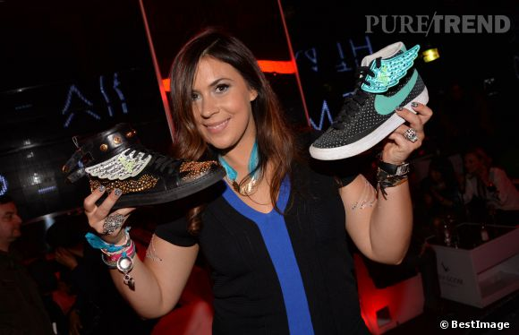 "Marion Bartoli lance sa collection ""Wingista"" avec Reebok au VIP Room à Paris le 9 avril 2014."