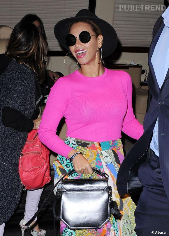 Beyoncé et son it-bag Alexander Wang.