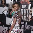Lupita Nyong'o en Chanel Automne-Hiver 2014/2015 et escarpins Casadei aux MTV Movie Awards le 13 avril 2014 à Los Angeles.