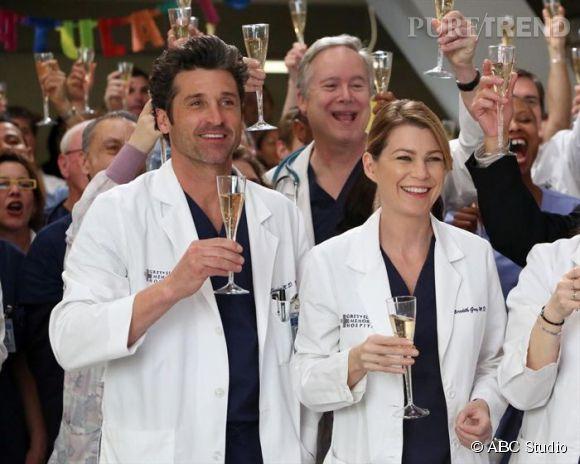 """Ellen Pompeo et Patrick Dempsey dans la série """"Grey's Anatomy""""."""