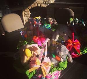 Le butin conséquent des enfants de Denise Richards pour Pâques 2014.