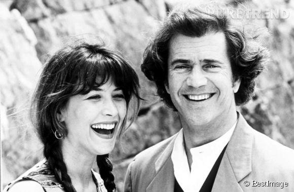 Mel Gibson et Sophie Marceau en 1994 au Festival de Cannes.