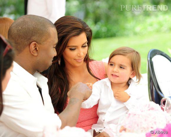 Kanye West et Kim Kardashian en 2012.
