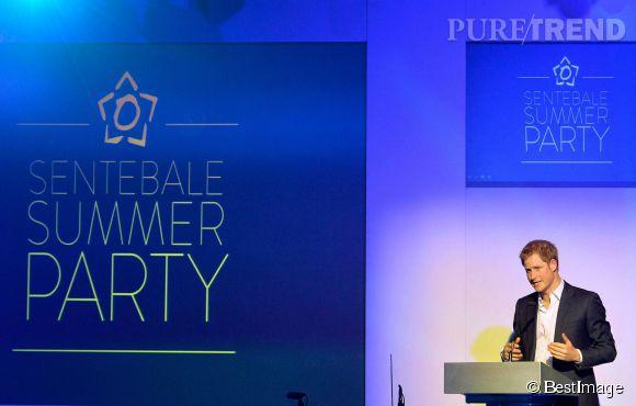 Le prince Harry à la Summer Party de sa fondation Sentebale pour les enfants du Lesotho le 7 mai 2014.