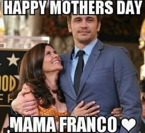 James Franco célèbre la fête des mères sur Instagram le 11 mai 2014.