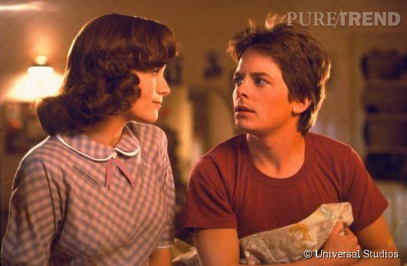 """Michael J. Fox et Lea Thompson dans """"Retour vers le futur""""."""