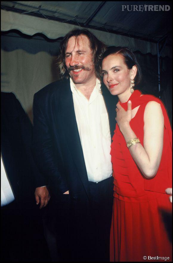 Carole Bouquet et Gérard Depardieu au Festival de Cannes en 1989.
