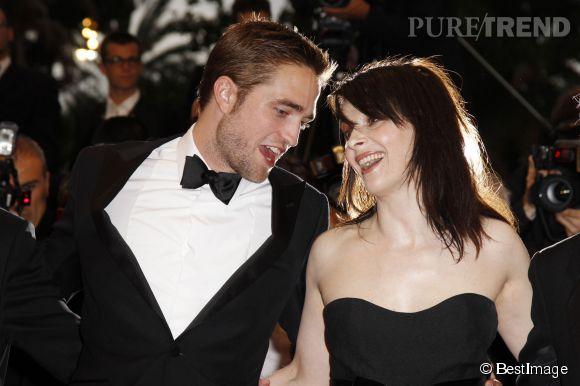 Robert Pattinson et Juliette Binoche à Cannes pour Cosmopolis en 2012.