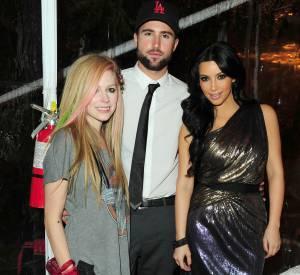 Avril Lavigne, Brody Jenner et Kim Kardashian en 2010.