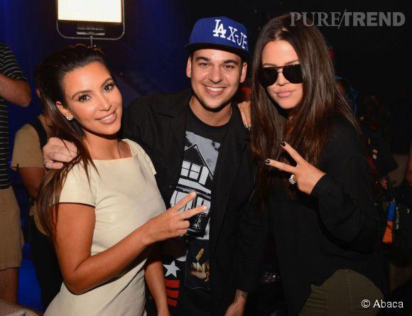 Kim Kardashian, Rob Kardashian et Khloé Kardashian en 2012.
