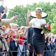 """La Reine Maxima des Pays-Bas visite la région de """"Basse-Saxe"""" en Allemagne le 26 mai 2014."""