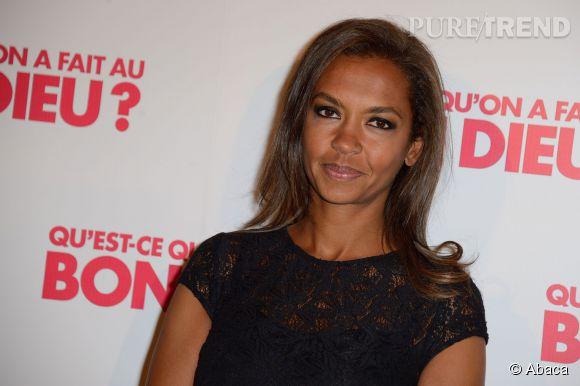 """Karine Le Marchand, animatrice phare de l'émission """"L'amour est dans le pré"""" diffusée sur M6. Elle répond avec aplomb aux accusations de Carmen."""