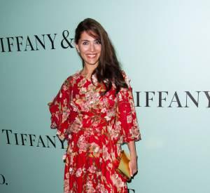 Caterina Murino en Dolce & Gabbana et bijoux Tiffany & Co lors de la soirée d'ouverture de la nouvelle boutique Tiffany & Co sur les Champs Élysées à Paris le 10 juin 2014.