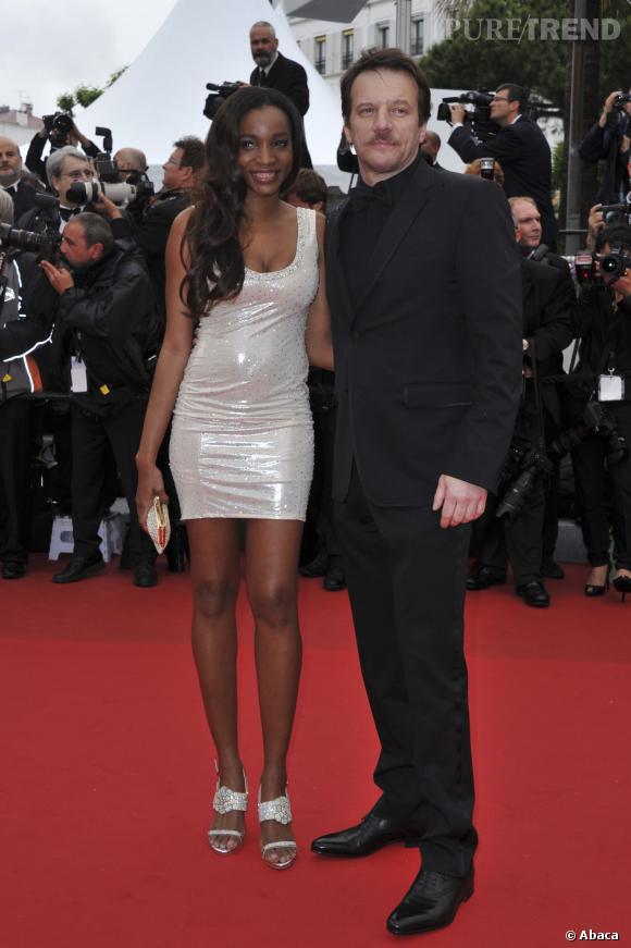 Samuel Le Bihan au Festival de Cannes de 2012 avec sa femme Daniela Beye.