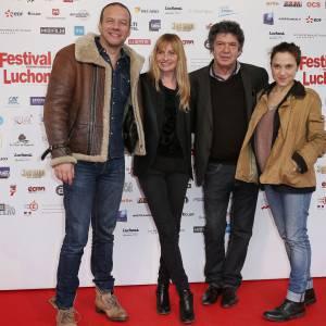 Samuel Le Bihan, Caroline Baehr, Lionnel Astier et Louise Szpinde au 16ème Festival Internation de Luchon en février 2014.