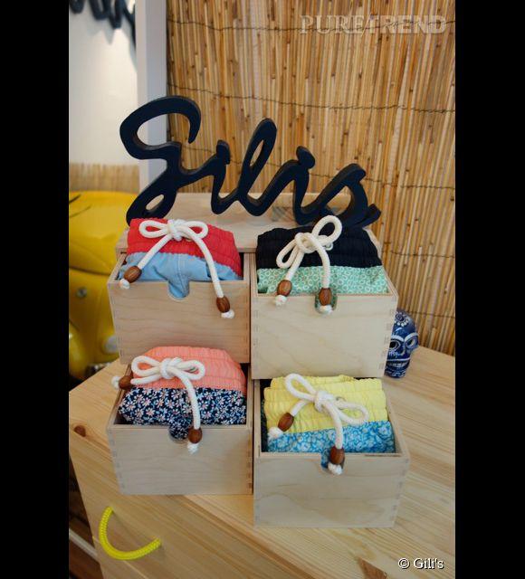 Gili's, nouvelle marque de maillots de bain pour homme. Pop up store au 15 rue Elzévir, 75003 Paris.