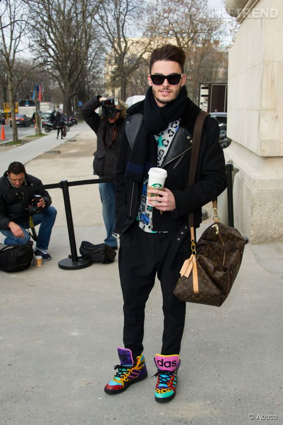 Baptiste Giabiconi, les chaussures audacieuses pour le défilé Chanel Automne-Hiver 2013/2014.