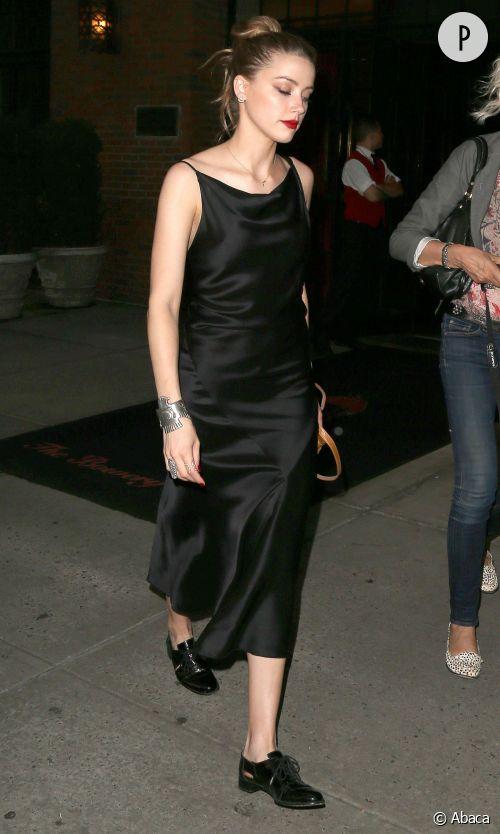 Amber Heard, divine gothique de New York.