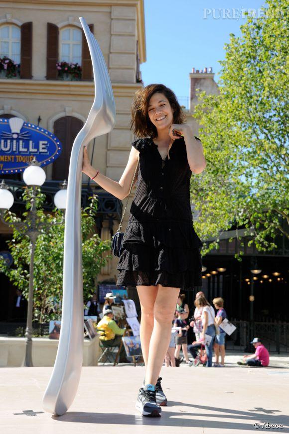 Mélanie Doutey à l'ouverture de l'attraction Ratatouille de Disneyland Paris le 21 juin 2014.