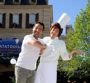Gilles Lellouche à l'ouverture de l'attraction Ratatouille de Disneyland Paris le 21 juin 2014.