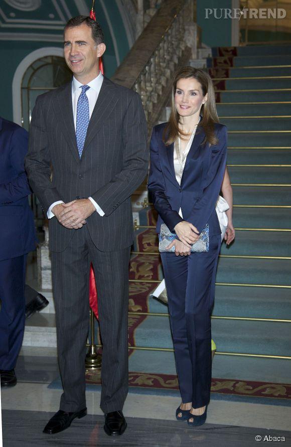 La Reine Letizia lors d'une cérémonie en l'honneur des victimes de terrorisme à Madrid le 21 juin 2014.