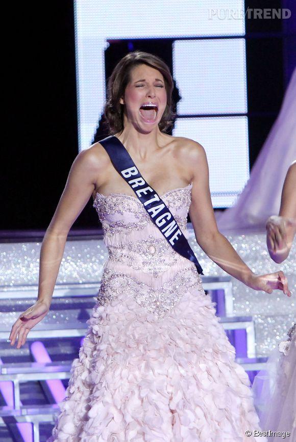 Laury Thilleman Miss France 2011 véritablement hystérique.