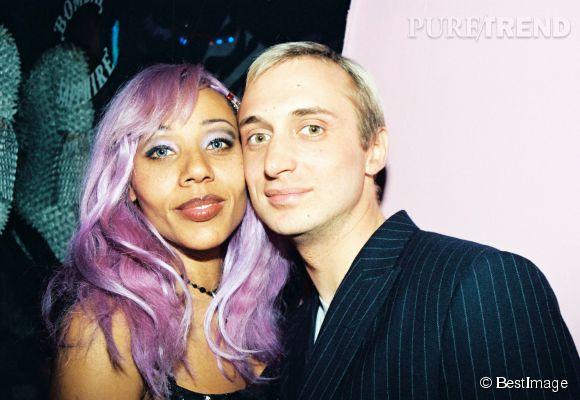 Cathy et David Guetta en 1997... et le look qui va avec.