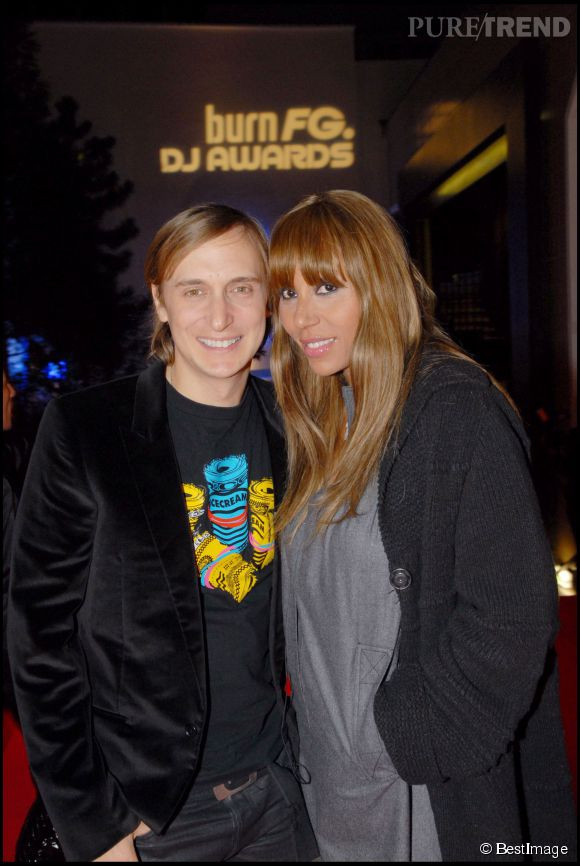 David et Cathy Guetta, enceinte de son deuxième enfant en 2007.