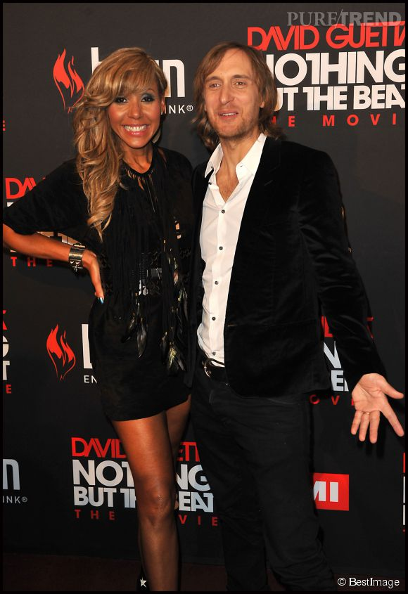 "Cathy et David Guetta à la première de ""Nothing But The Beat"" en 2011."