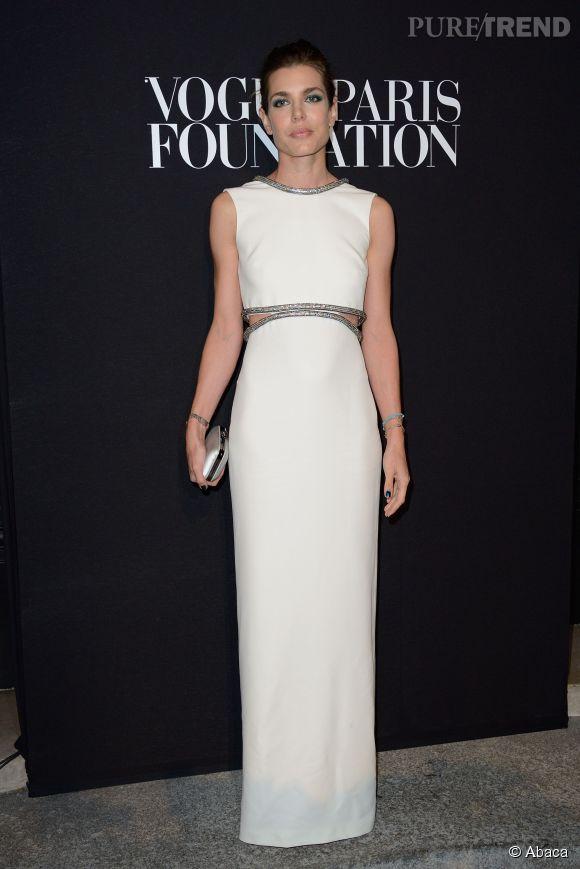 Charlotte Casiraghi à la soirée Vogue Foundation au Palais Galliera à Paris le 9 juillet 2014.