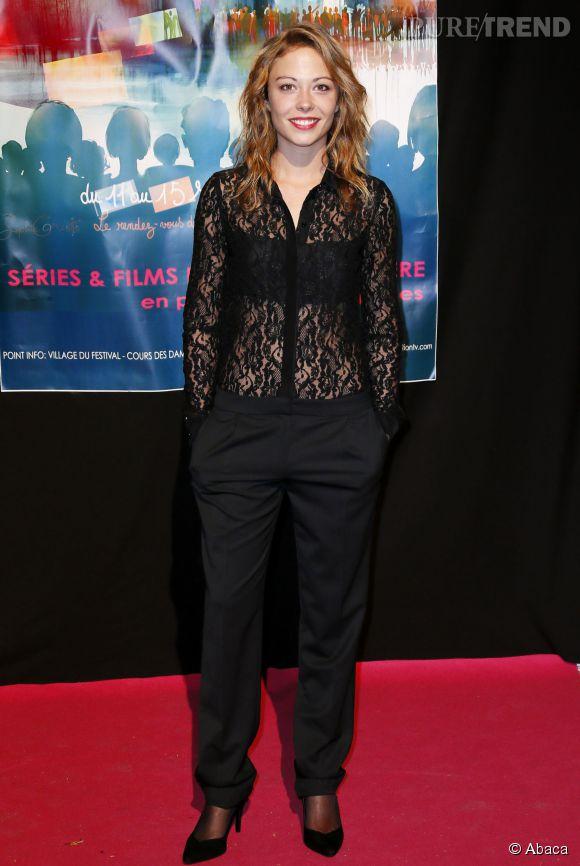 """Dounia Coesens, aka Johanna dans la série de France 3 """"Plus Belle la Vie""""."""