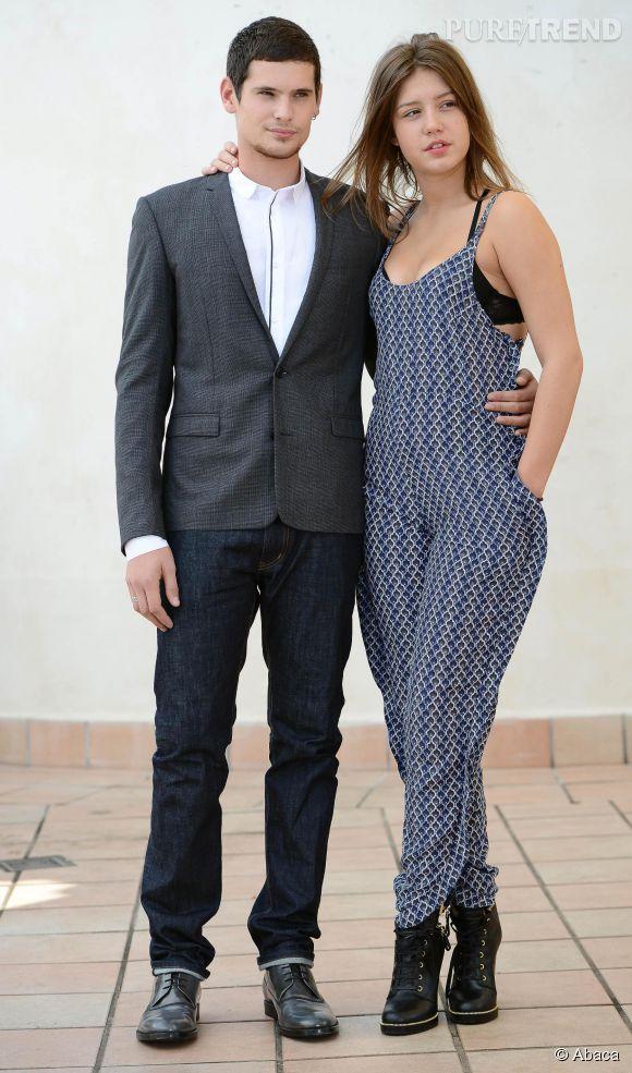 """Adele Exarchopoulos et Jérémie Laheurte, un couple né sur le tournage du film """"La Vie d'Adèle""""."""