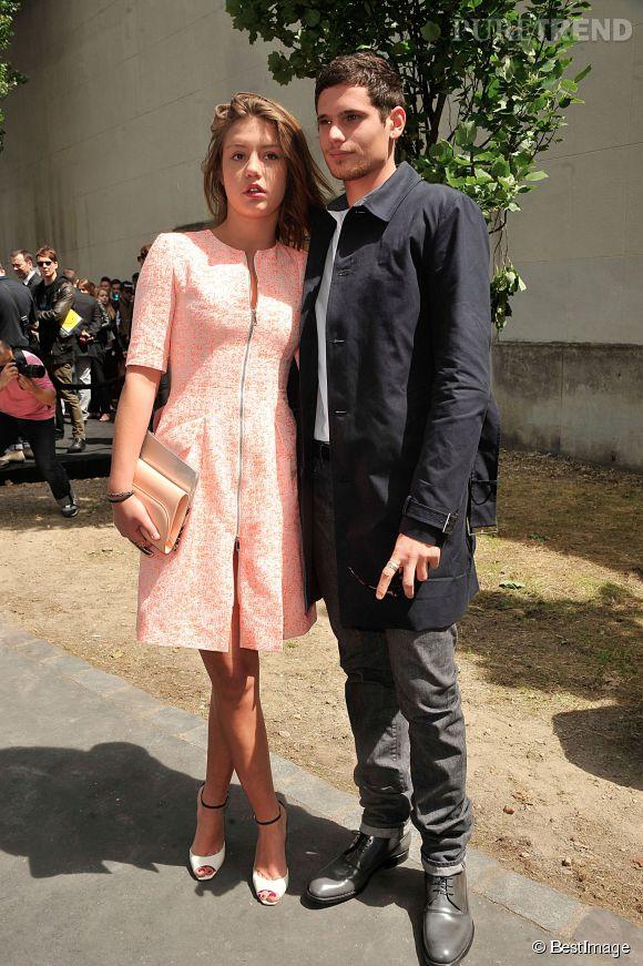 Adele Exarchopoulos et Jérémie Laheurte au défilé Dior Homme Printemps-Eté 2014.