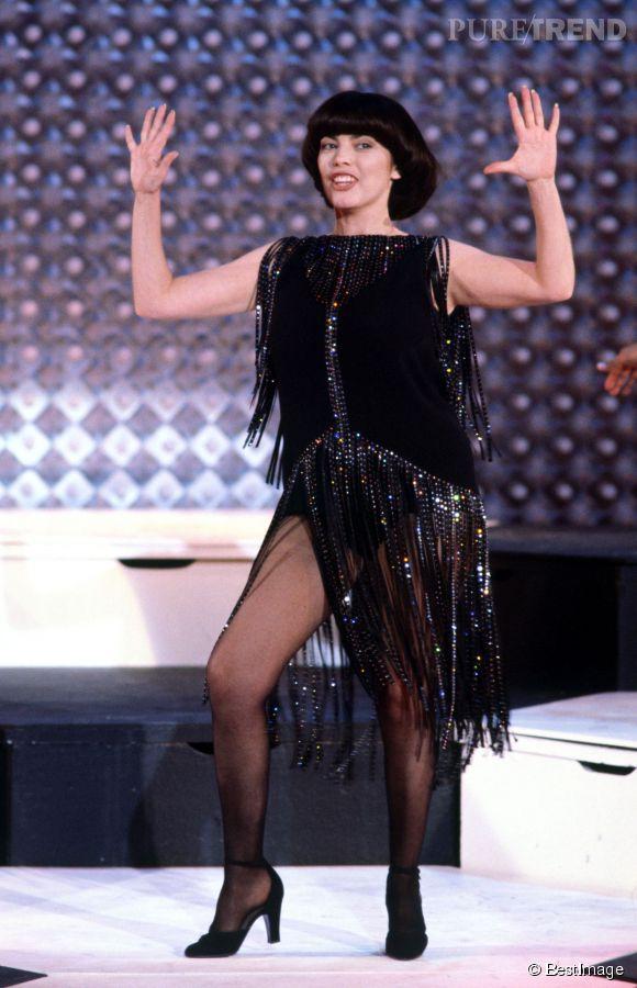 Mireille Mathieu en 1980, un vraie show girl.