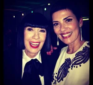 Cristina Cordula, reine du shopping sur M6 et amie des stars. Ici avec la créatrice de lingerie Chantal Thomass.