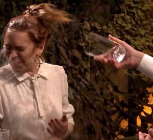 Jimmy Fallon et Lindsay Lohan dans la guerre des verres d'eau.
