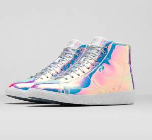 """Nike Blazer Mid Iridescent"" : la basket miroir de la rentrée 2014"