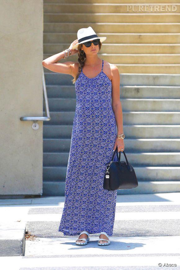 Stacy Keibler, un style frais et estival dans les rues de Los Angeles durant sa grossesse.