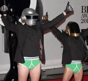 Les Daft Punk aux Brit Award 2014.