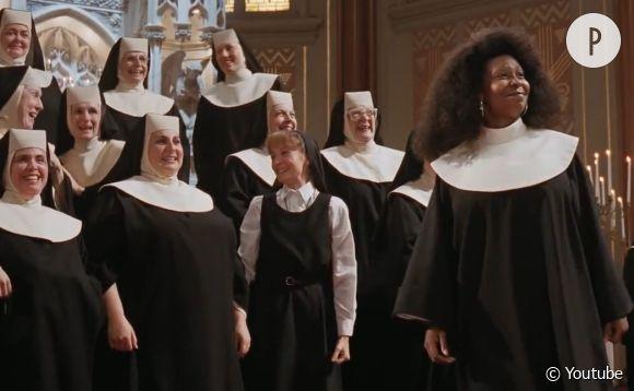 "Whoopi Goldberg dans le cultissime film ""Sister Act""."