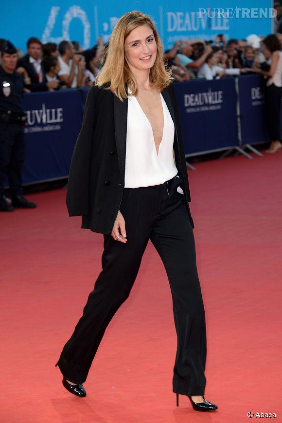 """Julie Gayet à la première de """"Get On Up"""" au Festival du Cinéma Américain de Deauville le 13 septembre 2014."""