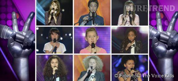 """Découvrez les neuf  finalistes de """"The Voice Kids"""" sur TF1."""