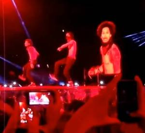 "Les Twins au Stade de France lors des dates françaises du concert ""On The Run Tour"" de Beyonce et Jay-Z le 12 et 13 septembre 2014."
