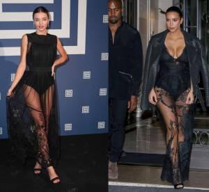 Miranda Kerr vs Kim Kardashian : body sexy et transparence sensuelle