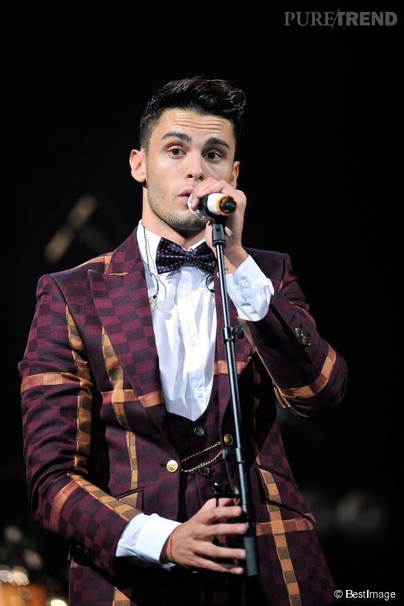 """Baptiste Giabiconi est de retour sur scène pour son dernier album, """"Un homme libre"""" et a fait un concert à La Cigale à Paris, le 4 octobre 2014."""