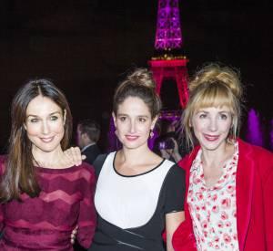 Elsa Zylberstein, Marie Gillain et Julie Depardieu, un trio de charme pour la prévention du cancer du sein, le 7 octobre 2014 au Palais Chaillot à Paris.